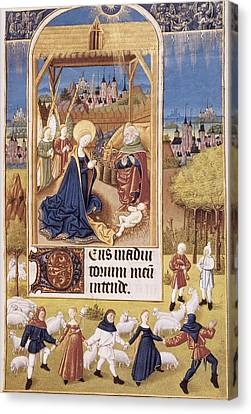 Book Of Hours Of Alonso Fernández Canvas Print by Everett