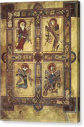 Book Of Kells. 8th-9th C. Fol.27v Canvas Print by Everett