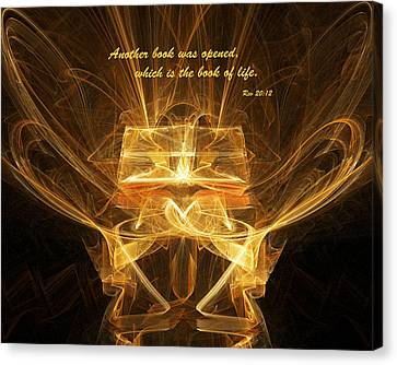 Book Of Life Canvas Print by R Thomas Brass