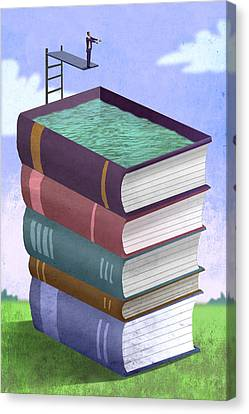 Book Pool Canvas Print by Steve Dininno