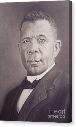 Canvas Print featuring the drawing Booker T Washington by Wil Golden