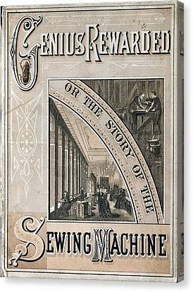 Booklet On The Singer Sewing Machine Canvas Print