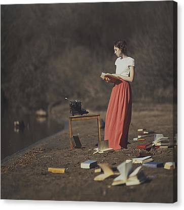 Books Canvas Print by Anka Zhuravleva