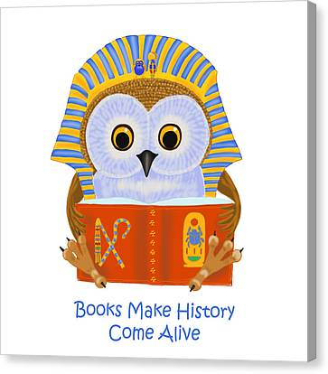 Books Make History Come Alive Canvas Print by Leena Pekkalainen