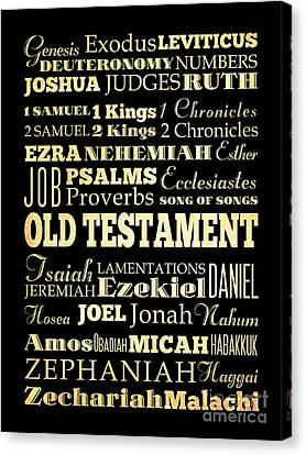 Books Of Old Testament Canvas Print by Joy House Studio