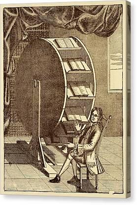Bookwheel Illustration. Canvas Print by David Parker