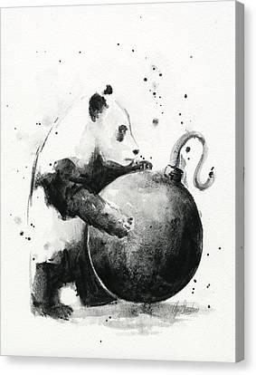 Boom Panda Canvas Print by Olga Shvartsur