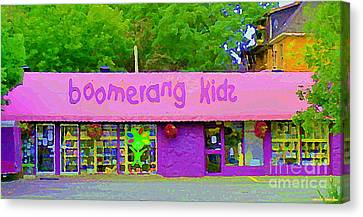 Boomerang Kids Baby Store Kiddies Clothing Consignment Shop The Glebe Paintings Of Ottawa C Spandau Canvas Print by Carole Spandau