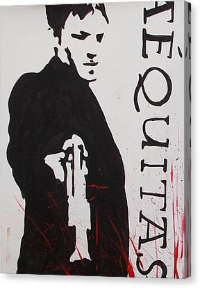 Boondock Saints Panel One Canvas Print by Marisela Mungia