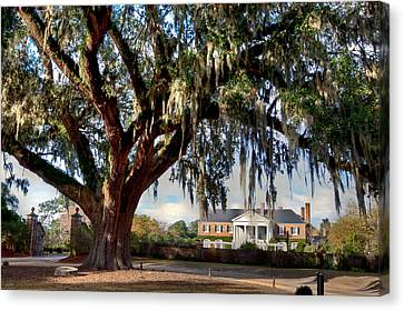 Boone Hall Mansion Canvas Print by Walt  Baker