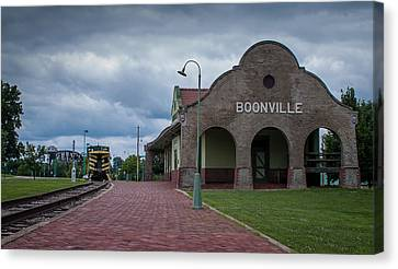 Boonville Depot Canvas Print by Wayne Meyer