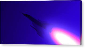 Boosted - Mirage - Blue Canvas Print by Marcello Cicchini