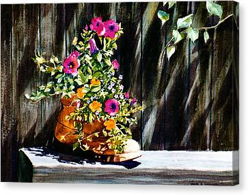 Boot Bouquet Canvas Print by Karol Wyckoff