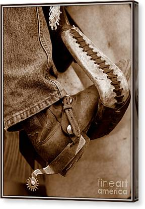 Boot N Stirup Canvas Print by Bill Keiran