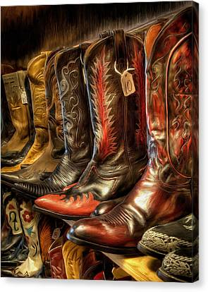 Boot Rack Canvas Print by Michael Pickett