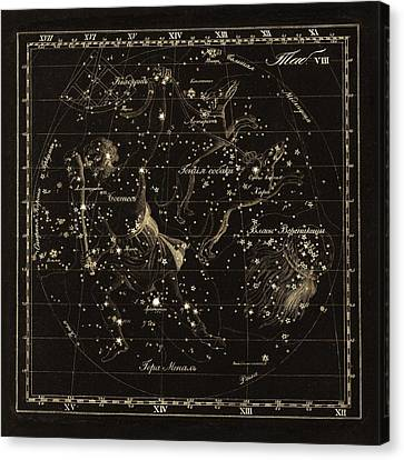 Bootes Constellations, 1829 Canvas Print by Science Photo Library