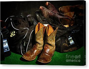Boots And Bags Canvas Print by Bob Hislop