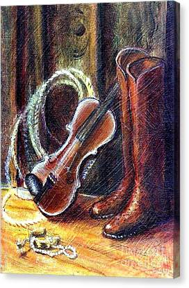 Boots And Pearls Canvas Print