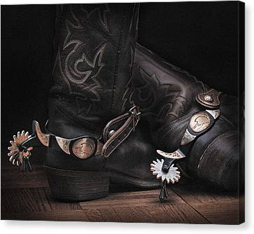 Canvas Print featuring the photograph Boots And Spurs by Krasimir Tolev
