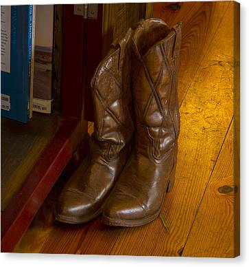 Boots Not Made For Walking Canvas Print by Jean Noren