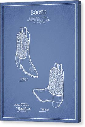 Boots Patent From 1940 - Light Blue Canvas Print by Aged Pixel