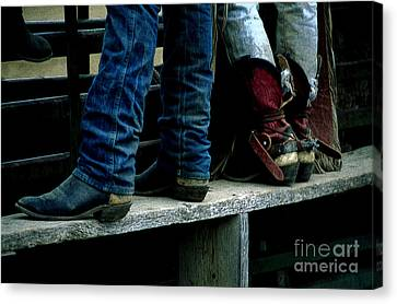 Boots Tell The Story Canvas Print by Bob Christopher