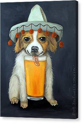 Boozer Canvas Print by Leah Saulnier The Painting Maniac