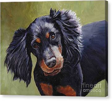 Boozer The Gordon Setter Canvas Print by Charlotte Yealey