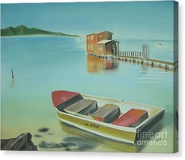 Boqueron Beach Canvas Print by Angela Melendez
