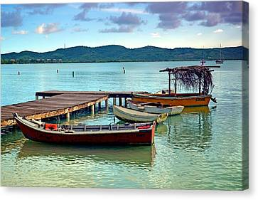 Canvas Print featuring the photograph Boqueron Pier by Ricardo J Ruiz de Porras