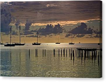 Canvas Print featuring the photograph Boqueron Sunset by Ricardo J Ruiz de Porras