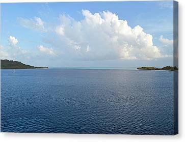 Bora Bora Waters Canvas Print