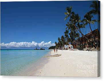 Canvas Print featuring the photograph Boracay Beach by Joey Agbayani