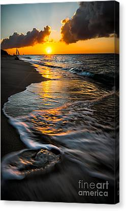 Boracay Sunset Canvas Print by Adrian Evans