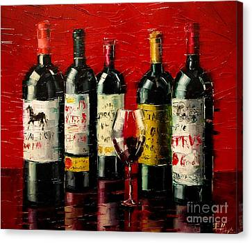 Grapes Canvas Print - Bordeaux Collection by Mona Edulesco