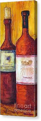 Bordeaux Vino Canvas Print
