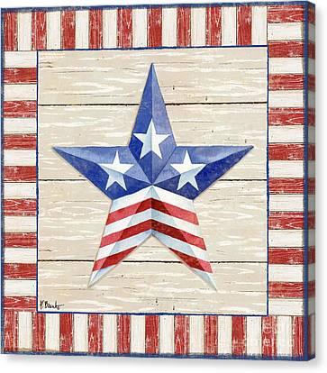 Bordered Patriotic Barn Star II Canvas Print
