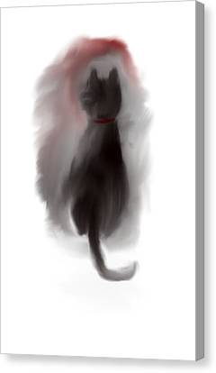 Bored Kitty Cat Canvas Print by Jessica Wright