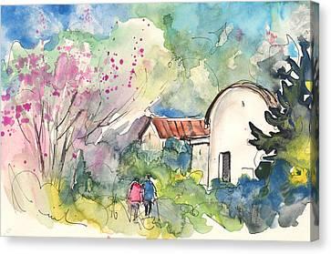 Borgo In Italy 03 Canvas Print by Miki De Goodaboom
