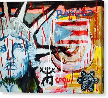 Boriqua Liberty Canvas Print by Daniel P Cronin