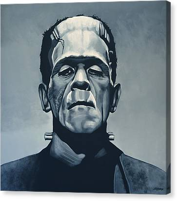 Comic. Marvel Canvas Print - Boris Karloff As Frankenstein  by Paul Meijering