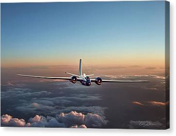 Tactical Canvas Print - Born Again Wb-57f by Peter Chilelli