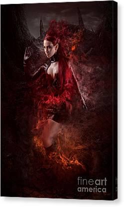 Born Of Fire Canvas Print by Robert Palmer