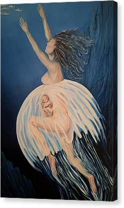 Born Of Water - Naitre De L'eau Canvas Print