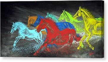 Born To Be Wild Canvas Print by Teshia Art