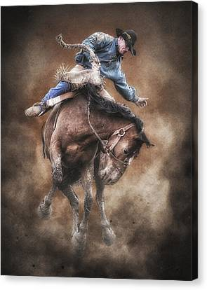 Born To Buck Live To Ride Canvas Print by Ron  McGinnis