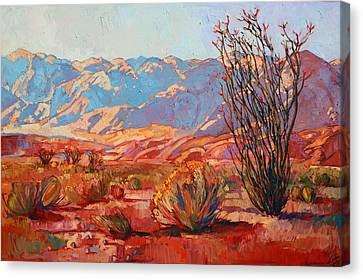 Palm Springs Canvas Print - Ocotillo Gold by Erin Hanson