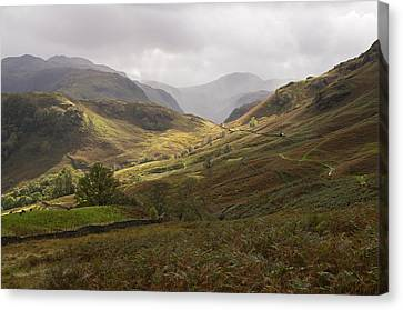 Borrowdale Towards Great Gable Canvas Print by Pete Hemington