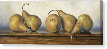 Bosc Pears Canvas Print by Lucie Bilodeau