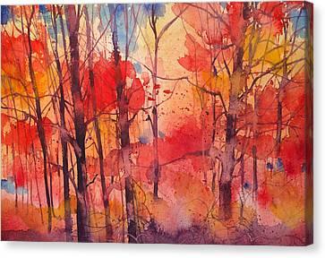 Bosco Rosso Canvas Print by Alessandro Andreuccetti
